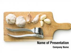 Press garlic garlic cutting board