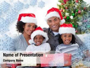 Holding composite family christmas presents