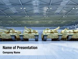 Garage military vehicle