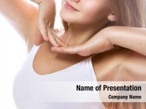 Young armpit axillary caucasian woman