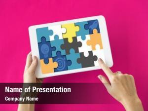 Pieces puzzle game label fun