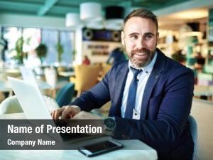 Mature portrait successful businessman smiling
