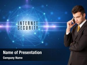 Security businessman thinking solutions internet