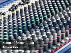 Music modern audio mixer