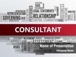 Abstract consultant business concept