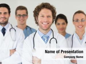 Doctors portrait smiling nurses hospital