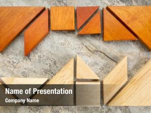 Tangram two sets puzzle slate