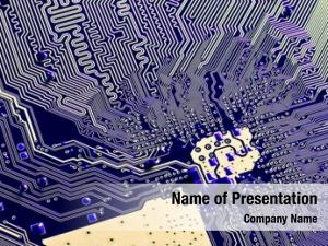 Electronic close abstract circuit board