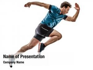 Runner one caucasian running jogger