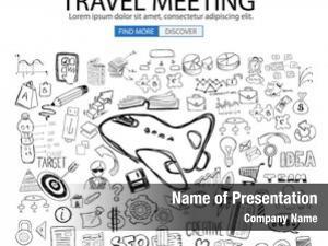Concept travel business doodle design