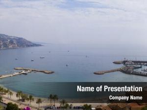 Harbor panoramic shot menton, cote