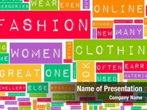 Online fashion industry creative abstract