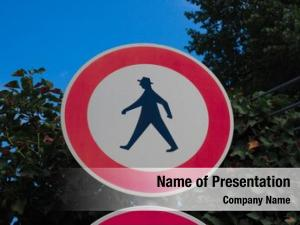 Pedestrians entry sign motorway