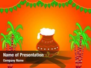 Festival illustration hindu pongal design