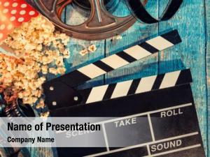 Cinematography film camera chalkboard