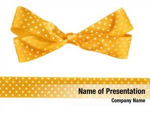 Ribbon orange bow white