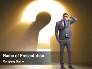 Difficult businessman facing choice dilemma