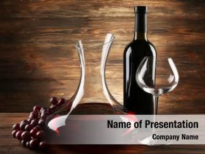 Wine glass carafe wooden