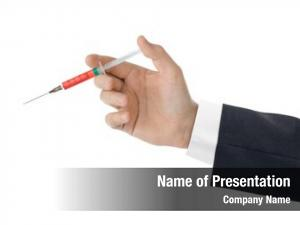 White syringe hand