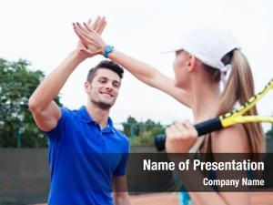Tennis male female players gives