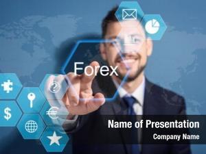 Working financial trader virtual screen
