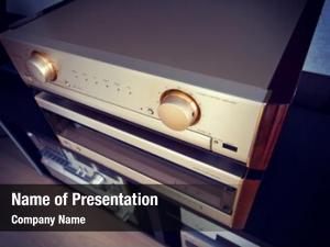Vintage two amplifier audio stereo