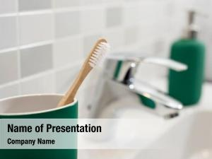 Toothbrush closeup bamboo green toothbrush