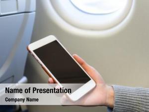 Cellphone woman use inside air
