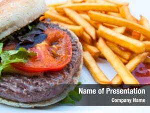 Burger burger american fresh salad