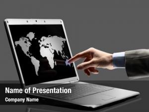 World black laptop outlines screen