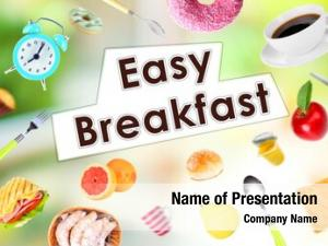 Collage breakfast dishes text easy