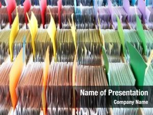 Colorful archives powerpoint template
