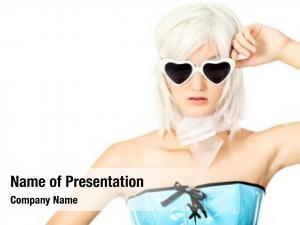 Blonde portrait fashionable model