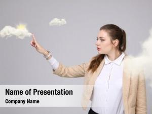 Weather forecast sun woman cloud