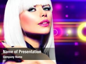 Party fashion disco girl portrait