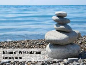 Beach balanced stones