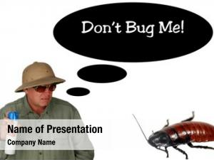 Bug man sprays spray towards