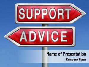 Online advice support help desk