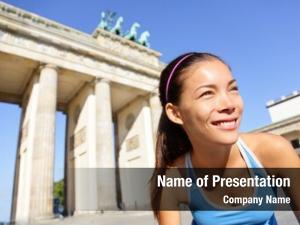 Running runner woman berlin, germany