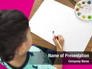Creativity painting little boy