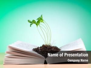 Book seedlings growing knowledge concept