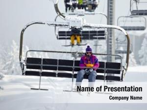 Resort chairlift ski