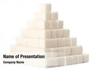 Cubes pyramid sugar white