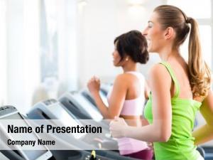 Gym running treadmill fitness club