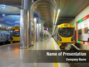 Train modern high speed moves rail