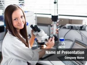 Chemistry portrait female student carrying