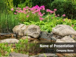 Natural stone pond