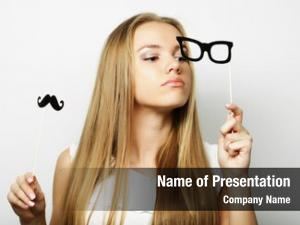 Holding young woman party glasses