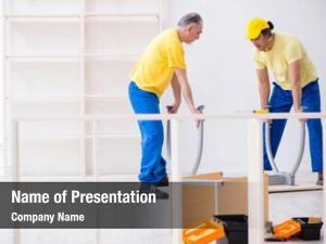 Carpenters two contractors working indoors