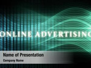 Concept online advertising background art